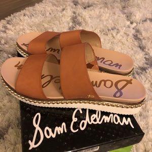 Sam Edelman Shoes - NWT Sam Edelman Asha Leather Slide Sandals